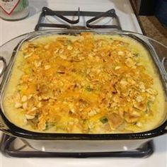 Blend of the Bayou Allrecipes.com.  I just tried this. The only change I made was using lipton onion soup mix instead of onions. (I hate chopping onions & didn't have frozen on hand).  Since we use unsalted butter, didn't matter about the sodium in the soup mix.  My husband absolute loved this dish and we will fix it again.