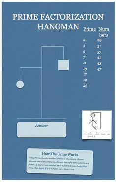 Math game for prime factorization