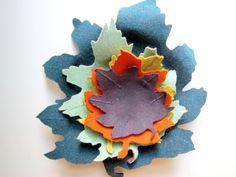 DIY Fabric Leaf Bowls