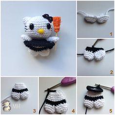 Mini Hello Kitty Amigurumi : Mini Hello Kitty Bruja Amigurumi, Tutorial