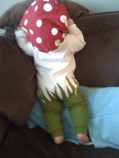 DIY Baby Mushroom Costume
