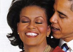 President Barak Obama flirting with his First Lady. So not staged!  Love the love.