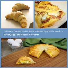 Pillsbury® Crescents + Bacon, Egg, and Cheese = Bacon, Egg, and Cheese Crescents