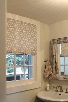 DIY fabric pull shade