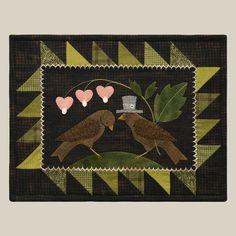 penny rugs, wool applique, art, night pattern, berti year, applique patterns, appliques, penni rug, quilt shop