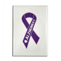 purple ribbon for alzheimer's | Alzheimer's Gifts > Alzheimer's Magnets > Purple Alzheimer's Ribbon ...