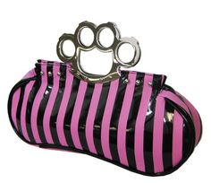 brass knuckle purse for the bad girl in you