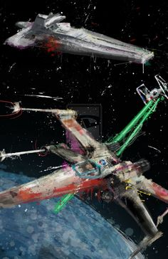 X-Wing Dog Fight // Jason Oakes