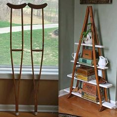 Repurposed crutches.