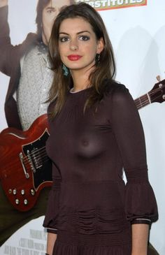 See through No Bra | ... Hathaway See Through With No Bra Shows Nipples & Almost Nude Breasts