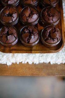 chocolate molten cake bar. hot cakes.