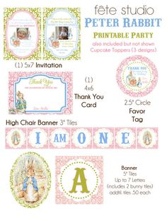 Peter Rabbit Printable Party