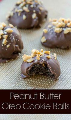 Peanut Butter Oreo Cookie Balls |   #oreocookieballs #desserts #dessertrecipes #food #sweet #delicious #yummy