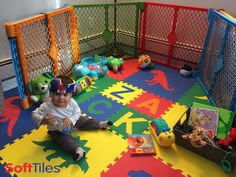 SoftTiles Dinosaur Foam Play Mats are not only fun, but help make your kids playroom safe!