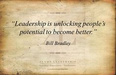 awesomel leadership is unlocking people´s potencial