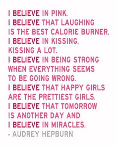 I also believe in PINK!