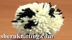 POMPOM MAKER USED http://sheruknitting.com/videos-about-knitting/crochet-elements-and-projects/item/644-popmpom-maker-used.html  Tutorial 12 Method 6 of 8. In this tutorial you will see how to make two color round yarn pompom using a special two prong pompom maker.