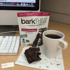 It's never too early for #chocolate! #coffeebreak #barkTHINS #snackingchocolate #nongmo #fairtrade