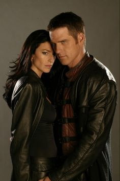 Farscape - arguably the best 'couple' in Space Opera. John Chriton of Earth and Peacekeeper Aeryn Sun.