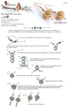 bead pattern, bead bead, free pattern, pattern earring, earring tutori