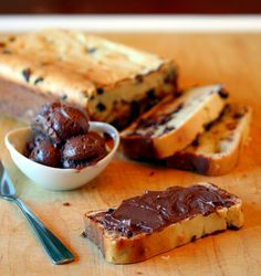 Chocolate Chip Quick Bread with Chocolate Butter