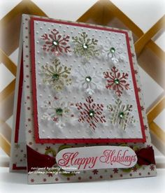 punched snowflake card