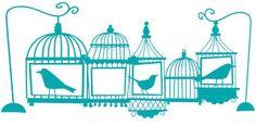 FREE cut file: birdcageborder #silhouette #cameo