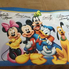 Disney World will send you an autographed postcard when you write a letter to the following address: Walt Disney World Communications P.O. Box 10040 Lake Buena Vista, FL 32830-0040 Disneyland will send you an autographed postcard when you write a letter to the following address: Walt Disney Company Attn: Fan Mail Department 500 South Buena Vista Street Burbank, CA 91521 The picture will arrive with 4-6 weeks. Perfect for Christmas! !!