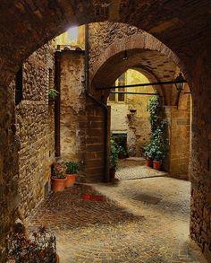 Medieval Passage, Monterchi, Italy