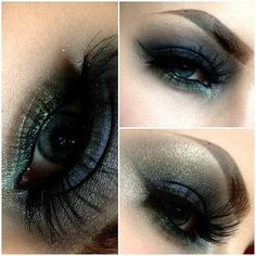 Peacock color smokey eye