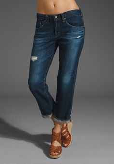 Boyfriend jeans and wedges... I think I just bought these! ha