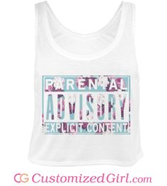 Parental Advisory tank top from Customized Girl