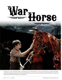 Read the War Horse feature in the Fall 2011 Horses In Art issue! Back issues available!