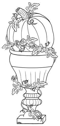 Fall Pumpkin in planter