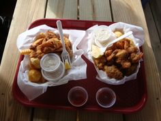 This is the best place to eat in town!  Stewby's Seafood Shanty in Fort Walton Beach, Florida.