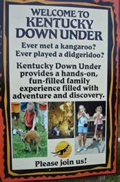 Kentucky Down Under, an Australian themed park in Horse Cave, KY. THE COOLEST PLACE EVER.
