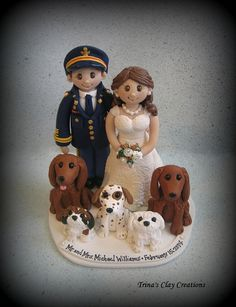 Military Wedding Cake Topper ~ By Trina's Clay Creations