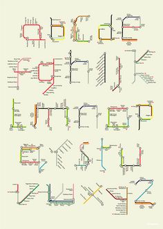 \An alphabet made up from sections of the London Underground map.  By Tim Fishlock.