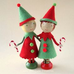 treasures, peg doll, ornament, dollar store crafts, clothespin dolls, christma craft, christma elv, elves, clothespins