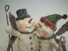 Sweet Primitive Paper Mache Folk Art by papiermoonprimitives, $75.00