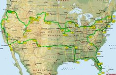 48 state road trip map
