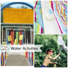 Wet and Wild: 25 Water Activities. Fun for the summer!!