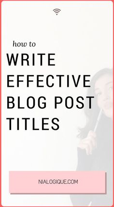 How To Write Effecti