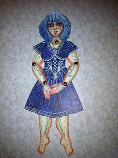 Gerta the Art Doll by langelbleu, via Flickr