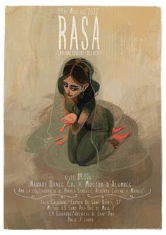 """Promo poster for the show """"Rasa"""". Júlia Sardà is a freelance concept artist and illustrator currently located in Barcelona, Spain. Júlia has created character and environment designs for illustrated books, mobile games and for her own personal projects.    Link: juliasarda.blogspot.com"""