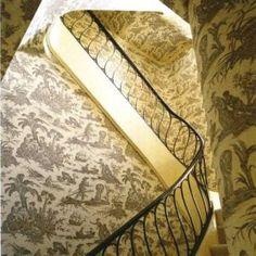 Staircase - Bunny Mellon NY home via World of Interiors