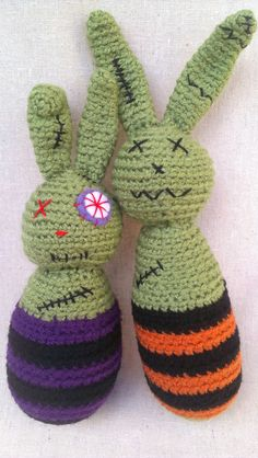Zombie Bunnies Amigurumi Crochet Plush Dolls