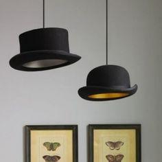 diy ideas, light fixtures, lamp, boy rooms, top hats