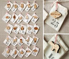Adorable woodland advent calendar. A new ornament for each day. from peppersprouts