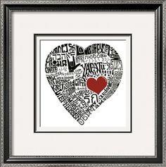 Love in 44 Languages Print at Art.com
